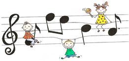 """""""Eltern-Kind-Singen"""", """"singen, musizieren, tanzen"""" und """"Kindertanzen"""""""