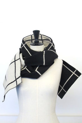 HOODSCARF SAINT MARTIN'S, double face wool