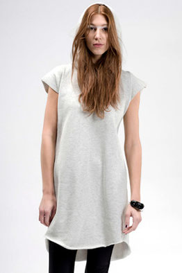 SWEAT DRESS PLEAT HOODY sweat jersey