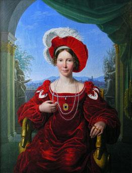 Porträt der Kurprinzessin Auguste von Hessen-Kassel, um 1820, Johann Friedrich Bury, Staatliche Museen Meiningen