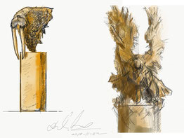 "Skizzen Walross oder Adler (je nach Holz) ""George"" Lkhagvadorj Dorjsuren"