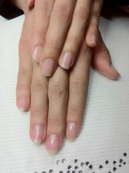 ネイルケア後の爪