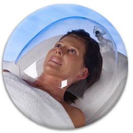 Sauerstoffbehandlung im Gesicht mit Dermionologie®