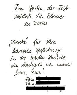 Bestattung Eberswalde Deufrains Finowfurt Oderberg