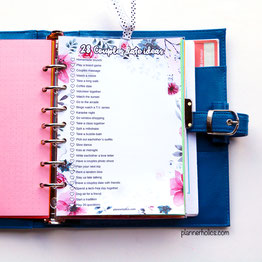 free printable 28 couples date ideas to do en february for a5 planners