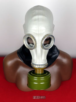 russische Gasmaske GP 5 grau aus gummi latex