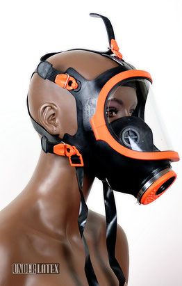 Gasmaske Climax 731 orange Panoramafenster