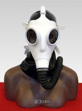 Deutsche Zivilschutz Gasmaske Auer Z56 in creme weiß