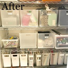 片付け事例:使いやすくスッキリ整った納戸収納