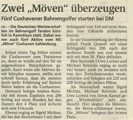 Artikel aus den Cuxhavener Nachrichten vom 06.10.2006