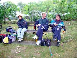 Die Seniorenmannschaft von links: Sigrid Michna, Uwe Lorenz, Michael Reinicke
