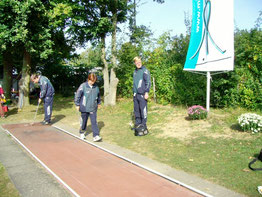 Mannschaftstraining an Bahn 1