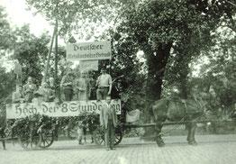 Festwagen des DMV zum 1. Mai 1923. Sammlung Dr. Joachim Bons