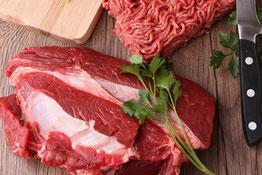 Das Bild zeigt wertvolles Fleisch vom Holstein Rind