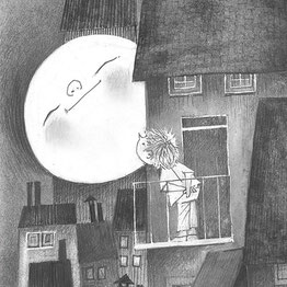 Maanlicht behang op maat