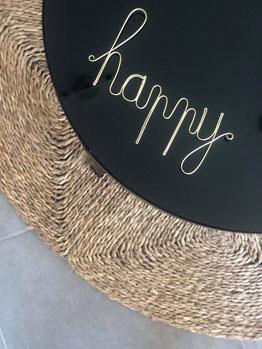 happy déco murale, happy déco, mot décoration murale, mot en fer déco