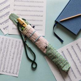 La funda de tela de mi flauta de Mariposa Pititico