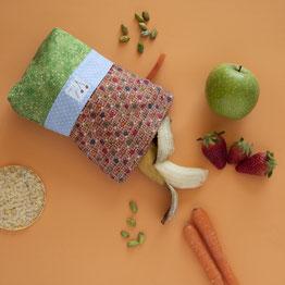 La bolsa para mi almuerzo saludable es de Mariposa Pititico