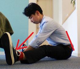 前屈で腰痛がでる奈良県大和高田市の男性