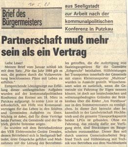 Bild: Seeligstadt Chronik 1988