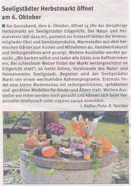 Bild: Seeligstadt Chronik 2018