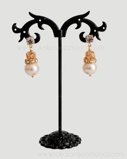 aros novia, aros perlas, aros cristales, aros strass, aros pasantes, aros dorados, aros plateados, aros novia Villa Urquiza.