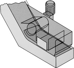 Trichter mit angetriebener Separierwalze zur Nachfiltrierung der Flüssigkeit