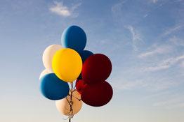 Luftballons Geburtstag, Silberhochzeit, Firmenparty