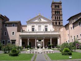 Basílica de Santa Cecilia en el Trastevere, Roma.