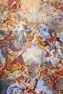 La Apoteosis de Santa Cecilia - 1721 - de Sebastiano Conca. Basílica de Santa Cecilia en Roma