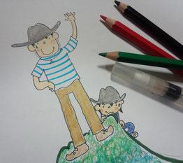 大すきな水彩色鉛筆♪