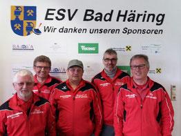 Siegermannschaft 22 04 2017 - v.l. Rudi Mitterer, Klaus Reiter, Richard Mitterer, Sebastian Nothegger, Josef Foidl