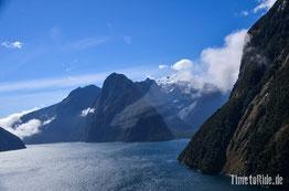 Neuseeland - Motorrad - Reise - Milford Sound aus der Vogelperspektive - Hubschrauberflug