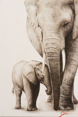 Elephant art painting