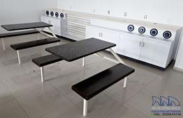 Muebles para cafetería, mesas para restaurantes