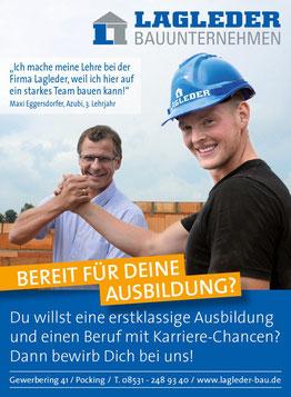 Bauunternehmen Lagleder, Ausbildungsbetrieb, Jobs, Azubis