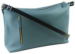 sac main en cuir bleu, Dune Saule Paris, Label Fabriqué à Paris