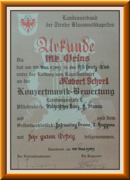 MK-Grins, Konzertmusik-Bewertung 1989