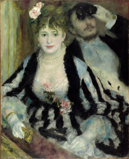 Renoir, La Loge (from the Art Institute website)