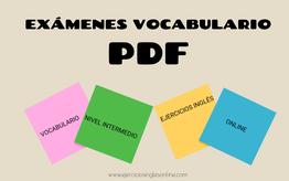 Exámenes vocabulario PDF