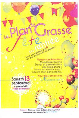 Le plan de Grasse fête sa rentrée 2014, cliquez pour agrandir