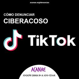 Cómo denunciar un caso de ciberacoso / ciberbullying en TikTok