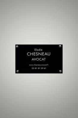 Avocat Besançon (25000), Maître Chesneau Elodie, 26 Rue Mégevand, Plaque professionnelle à l'entrée du Cabinet