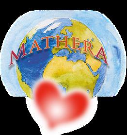 Weltkugel mit Herz von Mathera