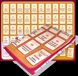 Legevorlage für Orakelkarten, Stoff, faltbar