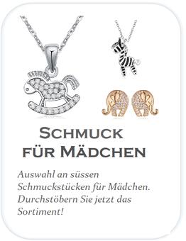 Schmuck für Mädchen. Auswahl an schönen Mädchen Halsketten und Mädchen Ohrringen.