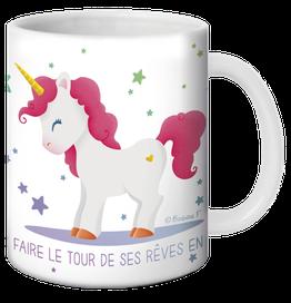 Mug Licorne faire le tour de ses rêves en licorne illustré par Barbara FORMOSA