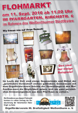 Flohmarkt, Stadtfest, Pfarrhaus, Orgelföderverein, Klais-Orgel, Hl. Dreifaltigkeit