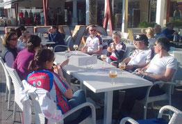 Moment de détente sur le port d'Alcudia