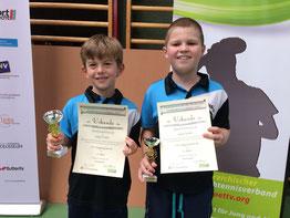 Marek und Jakob holten Bronze im U-11-Doppel.